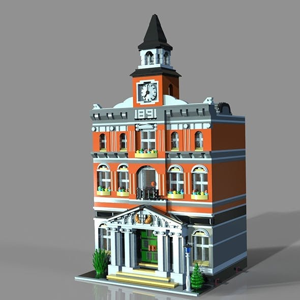 Lego town hall 3D model - 3DOcean Item for Sale