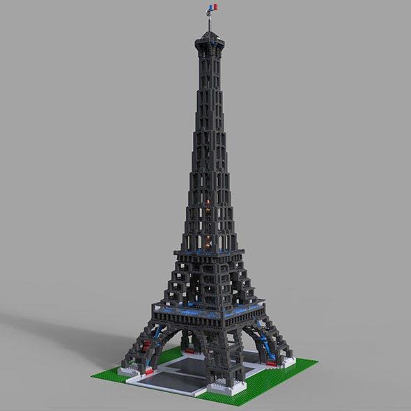 Lego Tower Eifel 3D model - 3DOcean Item for Sale