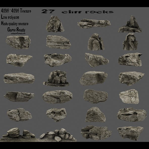 cliff rocks - 3DOcean Item for Sale