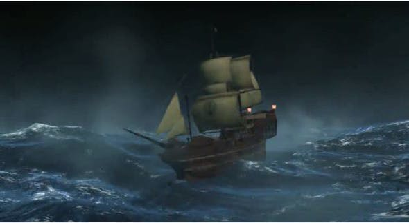 Wooden Ship - 3DOcean Item for Sale