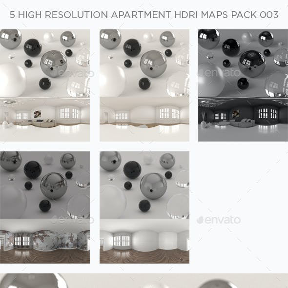 5 High Resolution Apartment HDRi Maps Pack 003