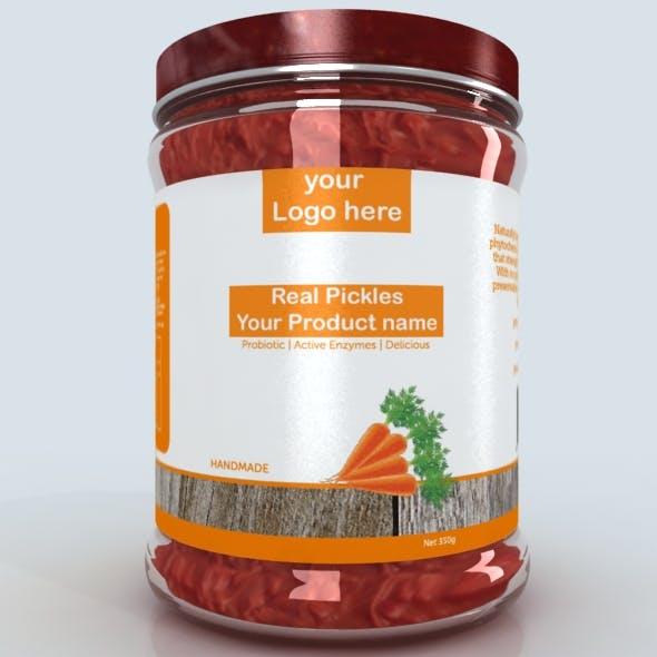 3d jar model for vegetables pickle paste or peanut butter etc - 3DOcean Item for Sale
