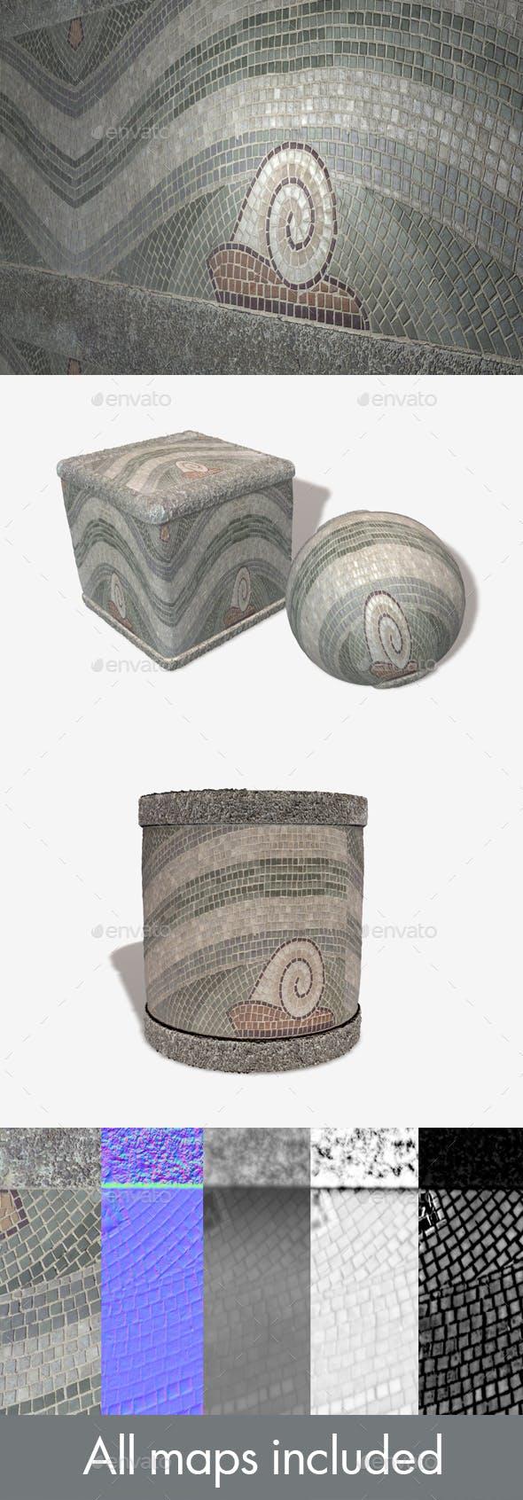 Seascape Mosaic Strip Seamless Texture - 3DOcean Item for Sale