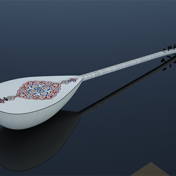 instrument saz reed 3D