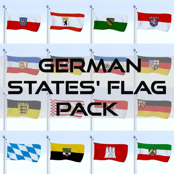 Animated German Flag Pack