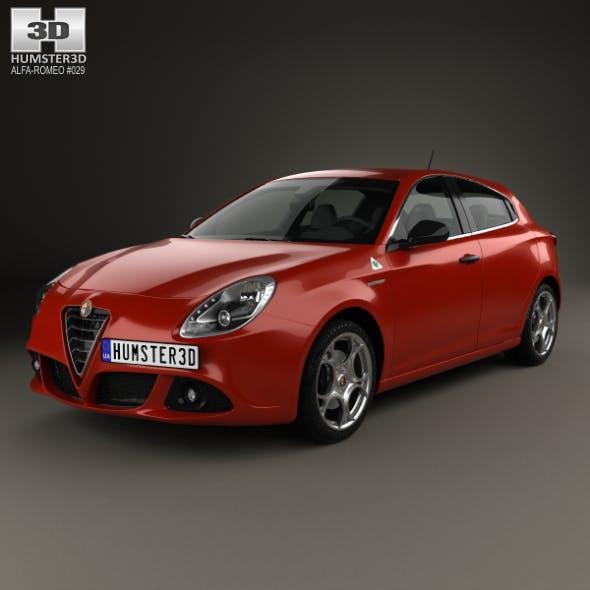 Alfa Romeo Giulietta Quadrifoglio Verde 2014 - 3DOcean Item for Sale