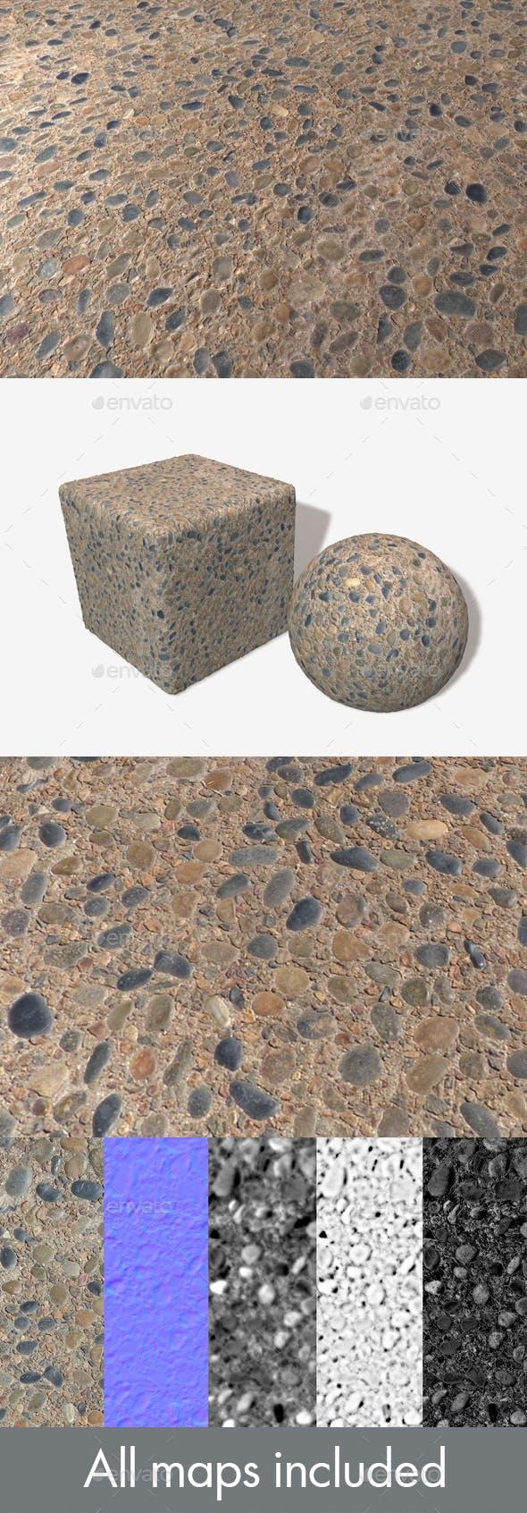 Pebble Sidewalk Seamless Texture - 3DOcean Item for Sale