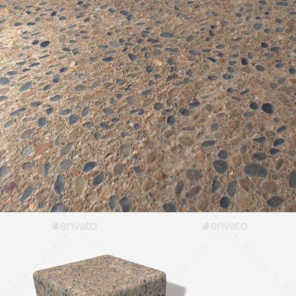 Pebble Sidewalk Seamless Texture