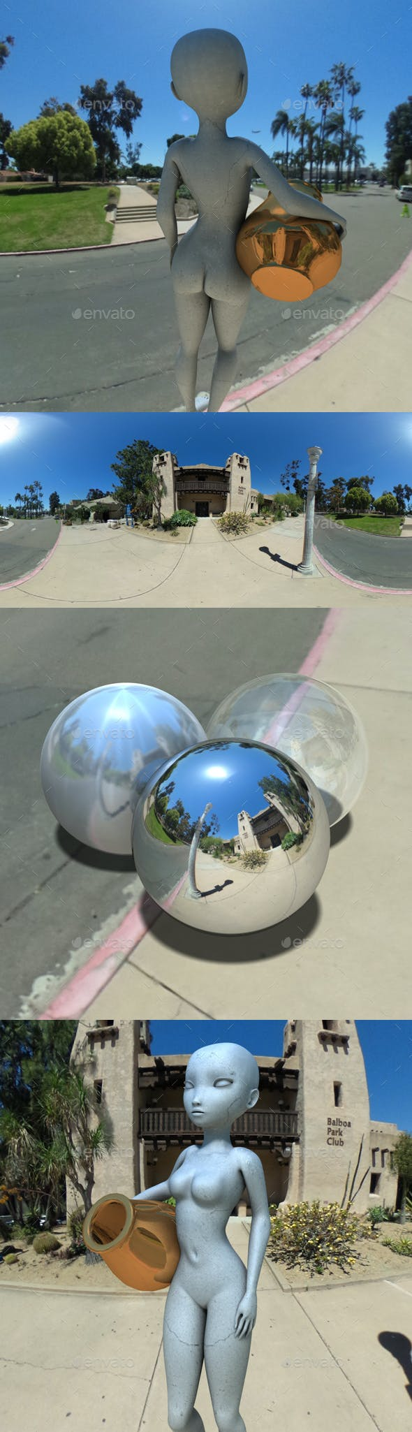 Balboa Park San Diego HDRI - 3DOcean Item for Sale