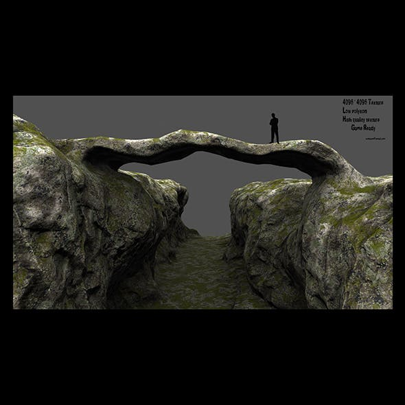 canyon bridge - 3DOcean Item for Sale