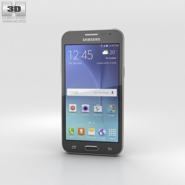 Samsung Galaxy J2 Black - 3DOcean Item for Sale