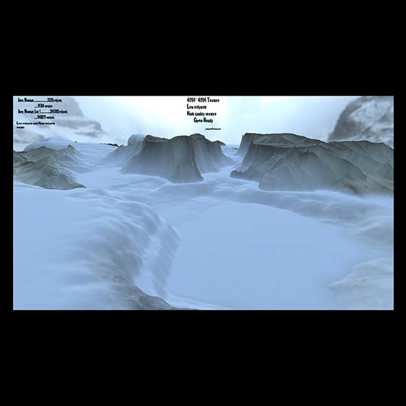snow terrain 1 - 3DOcean Item for Sale