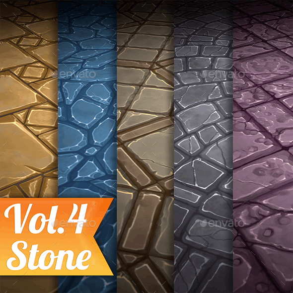Stone Tile Vol.4 - Hand Painted Texture Pack - 3DOcean Item for Sale
