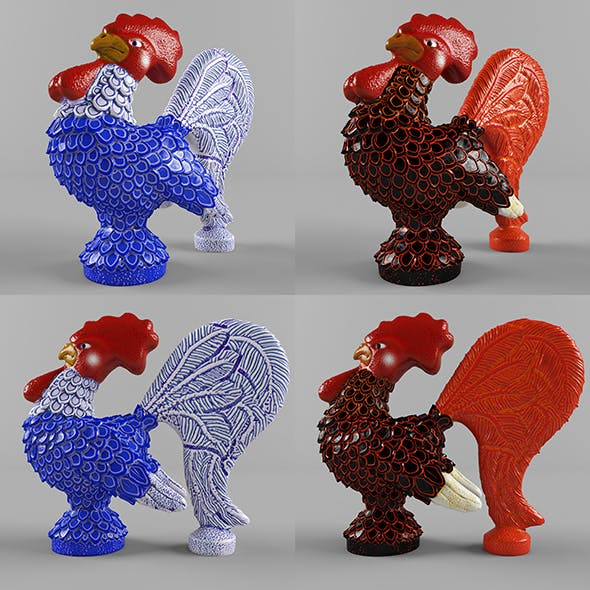 Glass figurine rooster