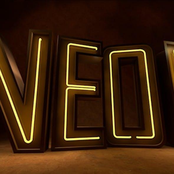 Neon Light 3d Alphabet Set A-Z