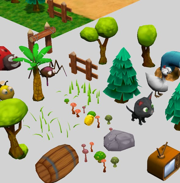Game pack Low Poly tree + bonus - 3DOcean Item for Sale