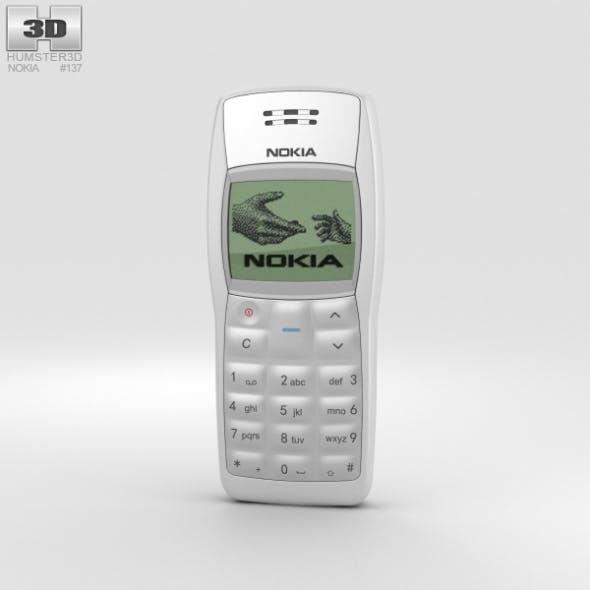 Nokia 1100 White - 3DOcean Item for Sale