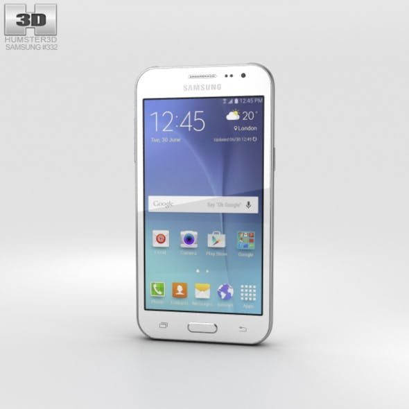 Samsung Galaxy J2 White - 3DOcean Item for Sale
