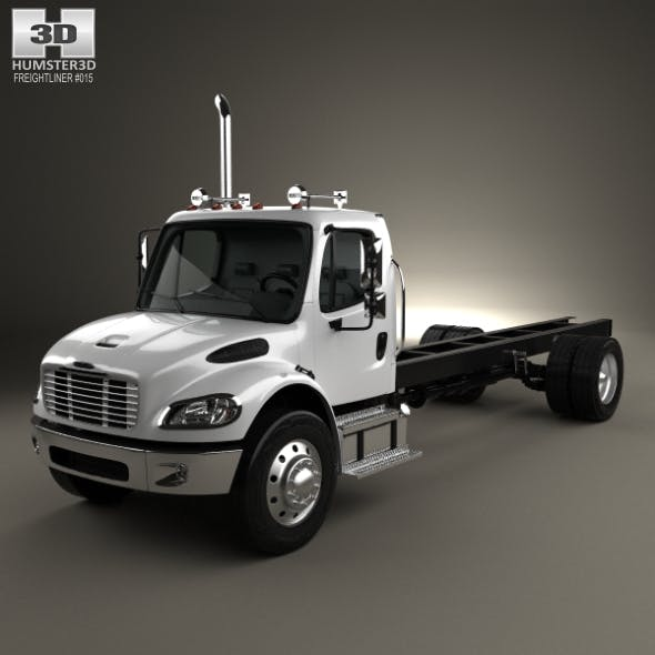 Freightliner M2 106 Day Cab Chassis Truck 2014 - 3DOcean Item for Sale