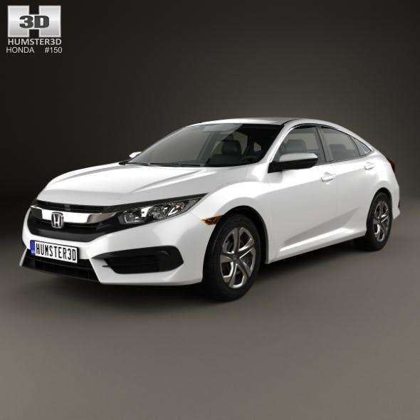 Honda Civic LX 2016 - 3DOcean Item for Sale