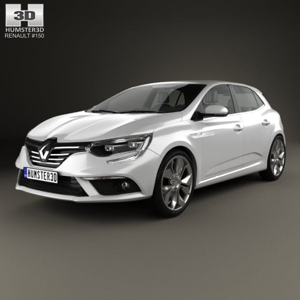 Renault Megane hatchback 2016 - 3DOcean Item for Sale