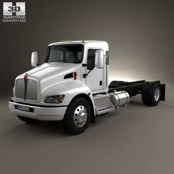 Kenworth T370 Chassis Truck 2009 - 3DOcean Item for Sale