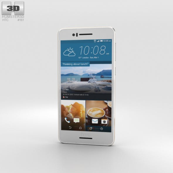 HTC Desire 728 White - 3DOcean Item for Sale