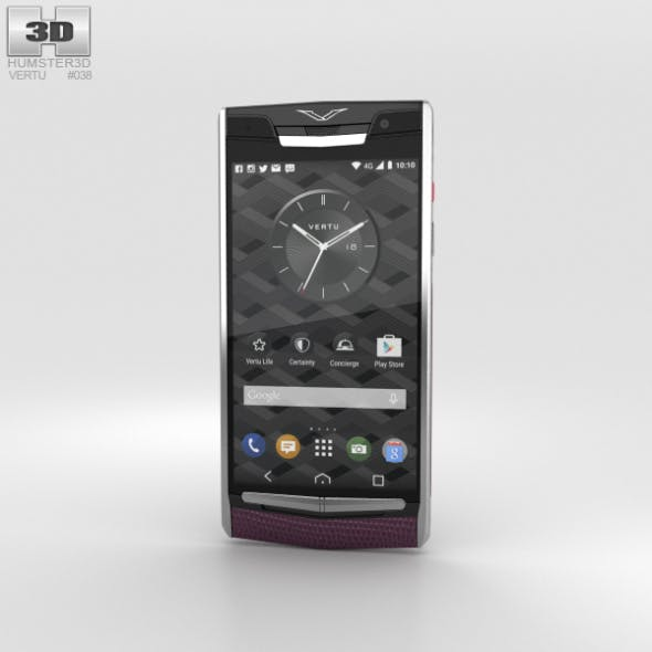 Vertu Signature Touch (2015) Grape Lizard - 3DOcean Item for Sale