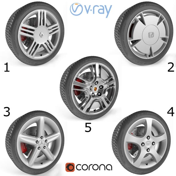 Wheels Collection 1 (5 Models)