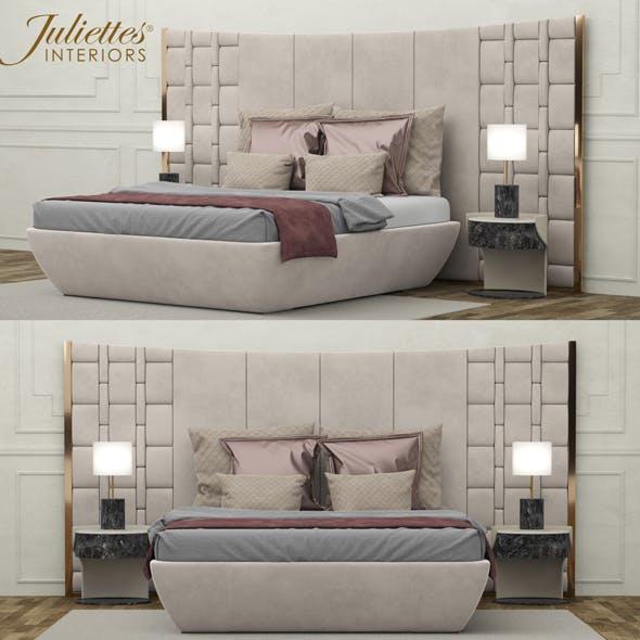 Bed Juliettes Interiors - 3DOcean Item for Sale