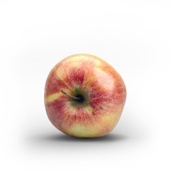 Photorealistic Fresh Red Green Apple
