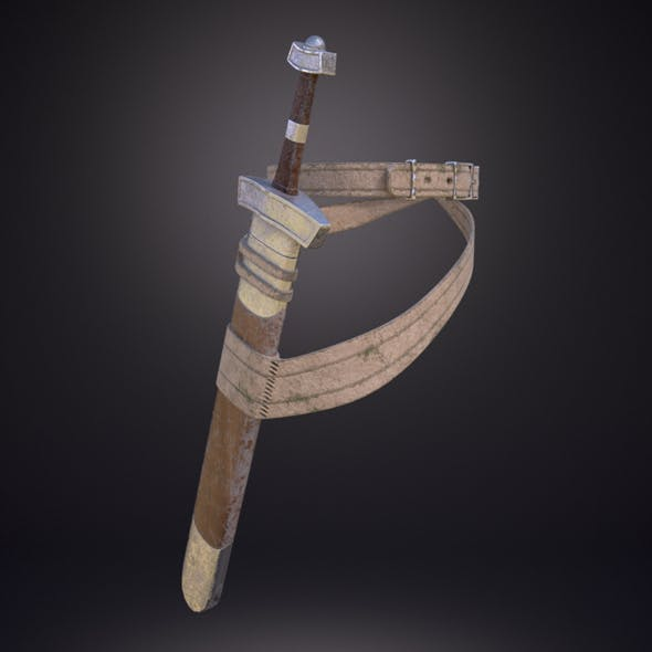 Sword with scabbard - 3DOcean Item for Sale