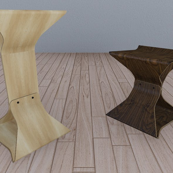 Stool and Bar Chair - 3DOcean Item for Sale