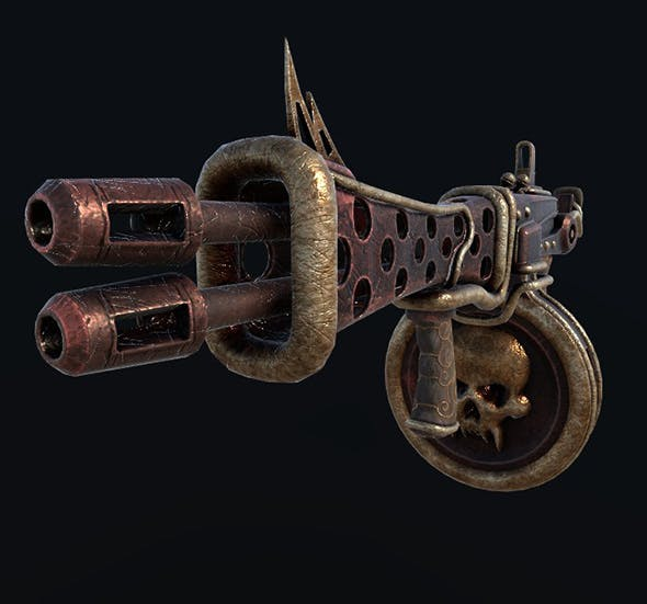Steampunk Tommy-gun - 3DOcean Item for Sale