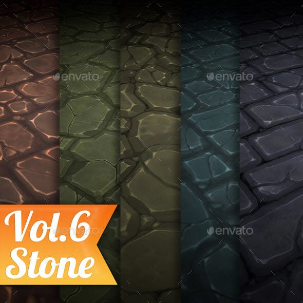 Stone Tile Vol.6 - Hand Painted Texture Pack - 3DOcean Item for Sale