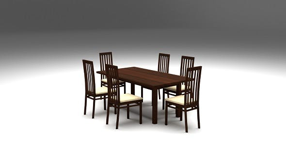 Dining Table - 3DOcean Item for Sale