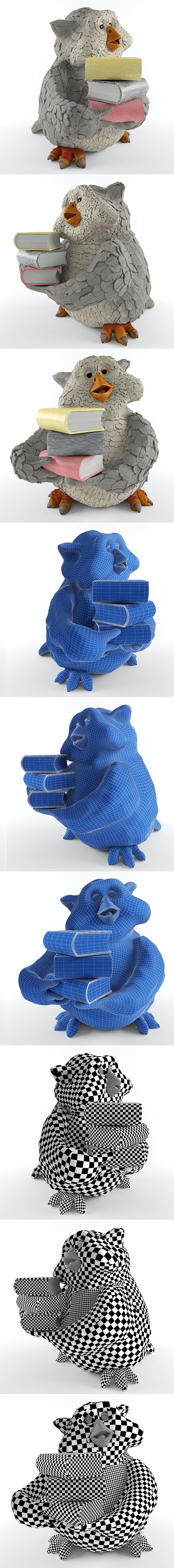 academic owl - 3DOcean Item for Sale