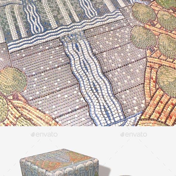 Ocean Mosaic Mural Seamless Texture