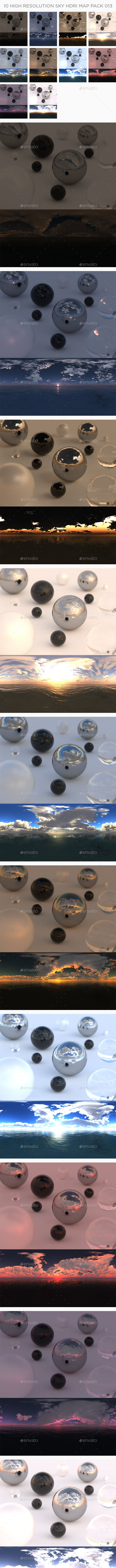 10 High Resolution Sky HDRi Maps Pack 013 - 3DOcean Item for Sale