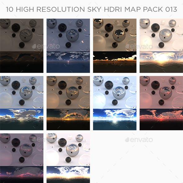 10 High Resolution Sky HDRi Maps Pack 013