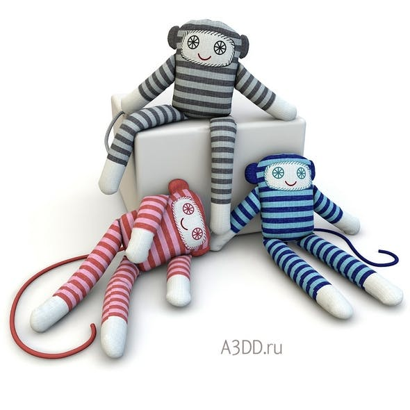 Textile doll Monkey toy