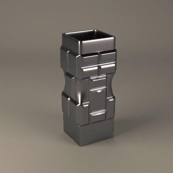 Brick metal vase - 3DOcean Item for Sale