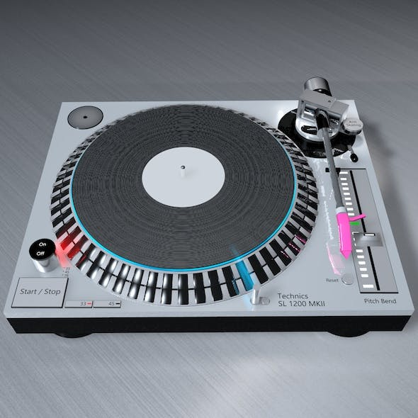 DJ Consol (Technics SL 1200 MK5) - 3DOcean Item for Sale