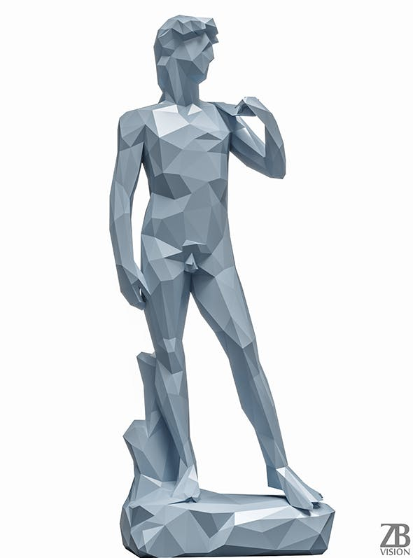 Lowpoly David Statue - 3DOcean Item for Sale
