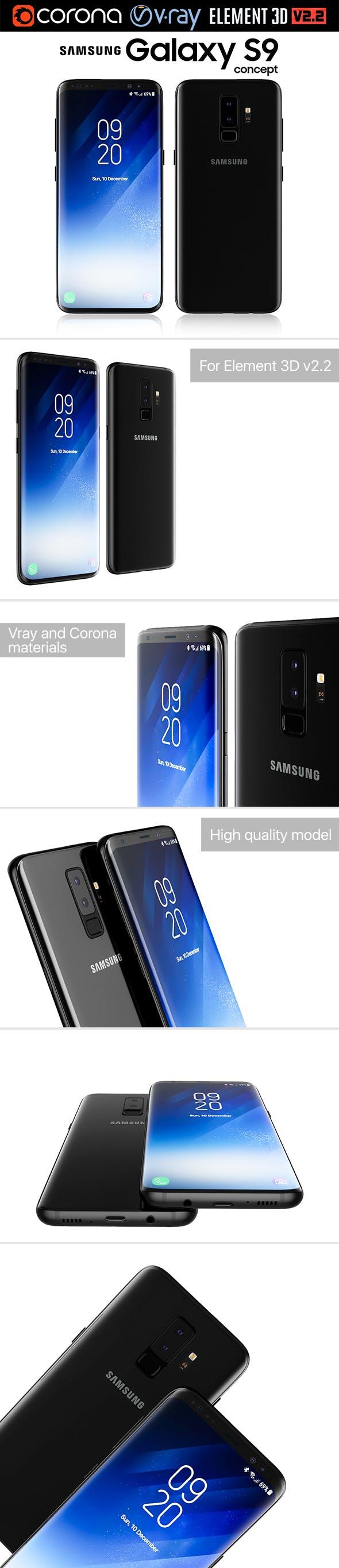 Samsung Galaxy S9 - 3DOcean Item for Sale