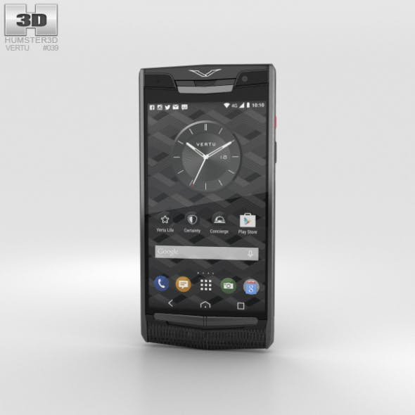 Vertu Signature Touch (2015) Pure Jet Lizard