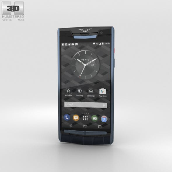 Vertu Signature Touch (2015) Pure Navy Alligator - 3DOcean Item for Sale