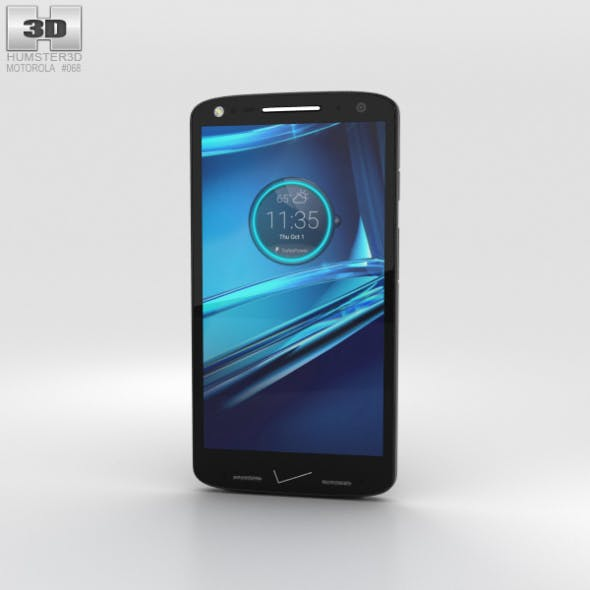 Motorola Droid Turbo 2 Black-Pebble Leather - 3DOcean Item for Sale