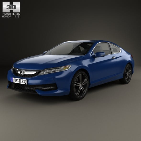 Honda Accord Сoupe Touring 2016 - 3DOcean Item for Sale