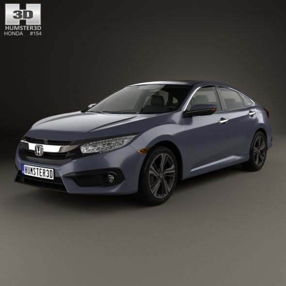 Honda Civic sedan Touring 2016 - 3DOcean Item for Sale